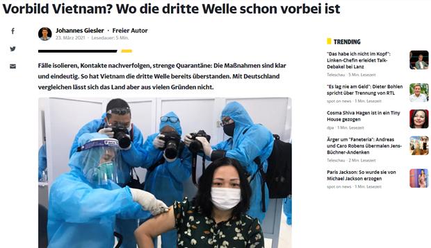 Nhà báo Đức đề cao cách Việt Nam vượt qua làn sóng lây nhiễm thứ 3