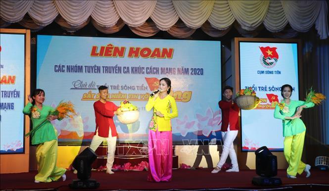 Liên hoan các nhóm tuyên truyền ca khúc cách mạng Cụm Sông Tiền 2020